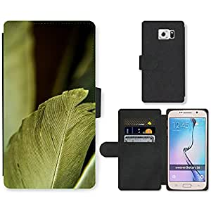 GoGoMobile Flip PU Leather Wallet Case with Credit Card Slots // M00118034 Pen Bird Feathers Beautiful // Samsung Galaxy S6 (Not Fits S6 EDGE)