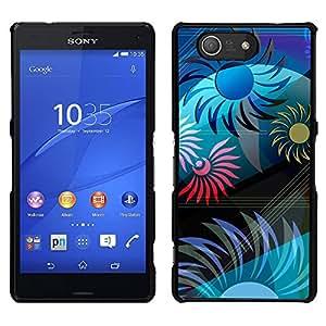 Sunshine Esquemas de colores - Metal de aluminio y de plástico duro Caja del teléfono - Negro - Sony Xperia Z4v / Sony Xperia Z4 / E6508