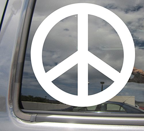 Right Now Decals Peace Symbol - Anti-War Movement - Cars Trucks Moped Helmet Hard Hat Auto Laptop Vinyl Decal Window Wall Sticker 10069