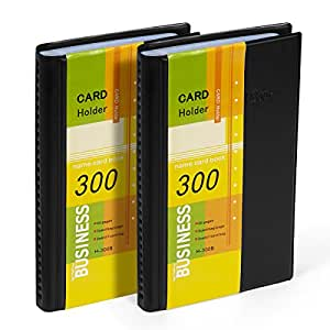 Amazon business card holder organizer book pu leather 2 business card holder organizer book pu leather 2 pack total for 600 business cards colourmoves