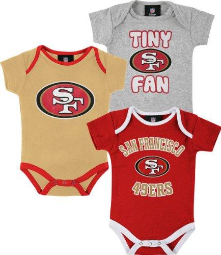 Amazon.com  San Francisco 49ers Infant Tiny Fan 3 Piece Creeper Set  Baby 089b9bdf9