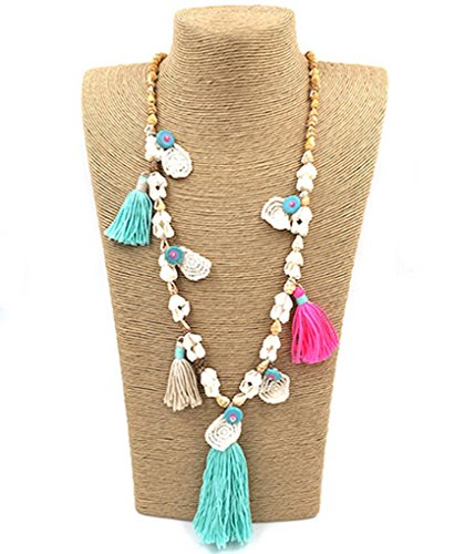 fonk: tessal unique boho Bohemia long Necklaces sea beach shell beaded chain necklace by fonk store