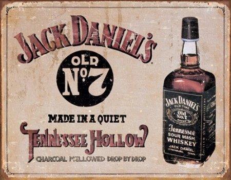 Jack Daniel's - Tennessee Hollow Tin Sign 16 x - Metal Daniels Jack