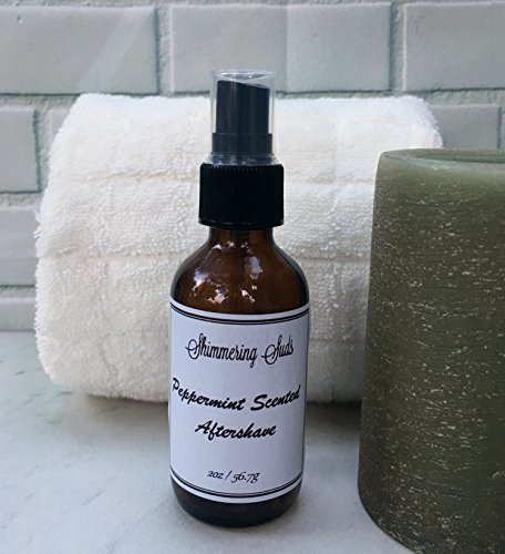 Peppermint Aftershave, Men's Aftershave, Aloe Aftershave, Vegan Aftershave, Handmade Aftershave, 2oz Amber Spray Bottle