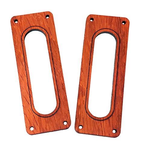 - 2pc. Enclosed Single Coil Pickup Cover Rings - Choose from 4 Wood Types! (Padauk)