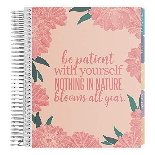 Erin Condren 12-Month 2019-2020 Deluxe Monthly Planner 7x9 (July 2019-June 2020) - Blooms All Year, Colorful - Deluxe Planner