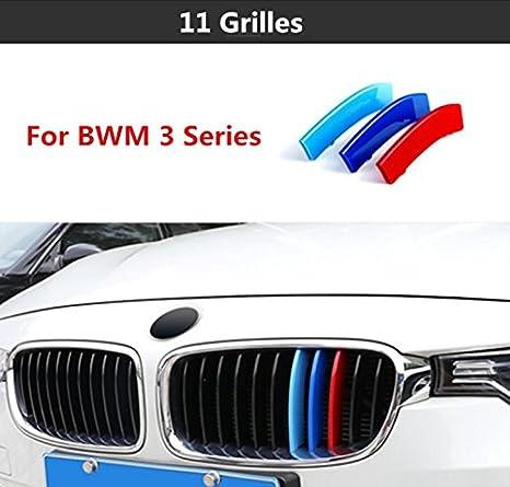 3/couleurs ABS 3D M voiture pour grille Garniture Bandes avant Motorsport autocollants pour 2013/2014/2015/BMW Series 3/F30