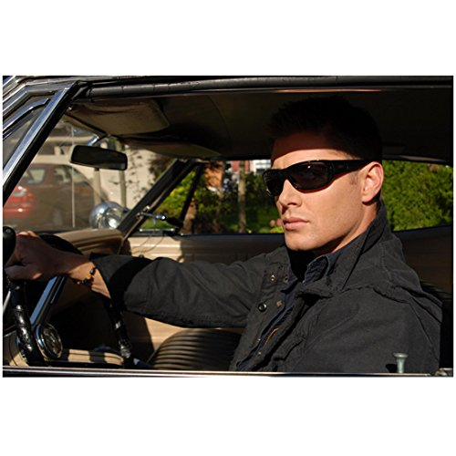 Supernatural Jensen Ackles as Dean behind the steering wheel with sunglasses 8 x 10 Inch - Jensen Sunglasses