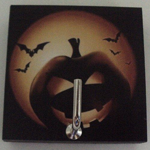 Agility Bathroom Wall Hanger Hat Bag Key Adhesive Wood Hook Vintage Halloween Pumpkin's Photo -
