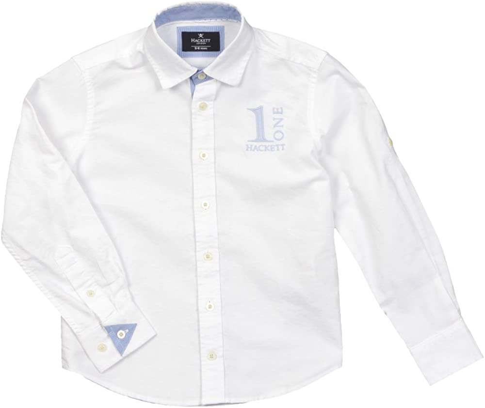 Hackett - Camisa de Manga Larga Numb, niño, Color: Blanco ...