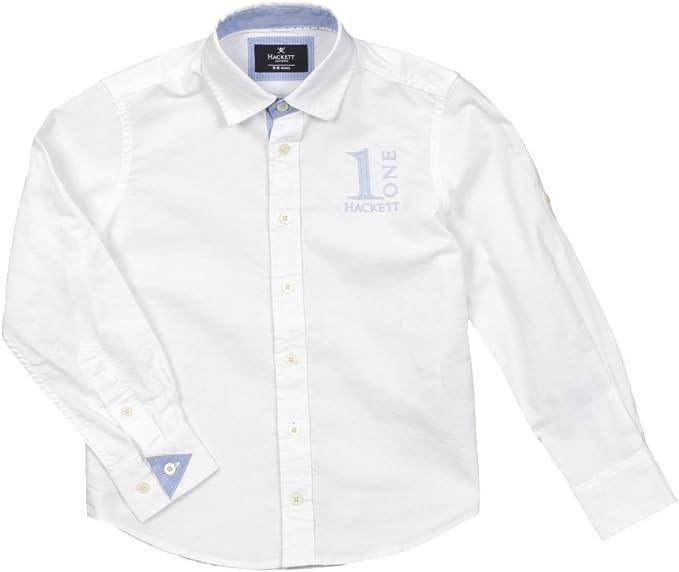 Hackett - Camisa de Manga Larga Numb, niño, Color: Blanco, Talla: 4 años: Amazon.es: Ropa y accesorios