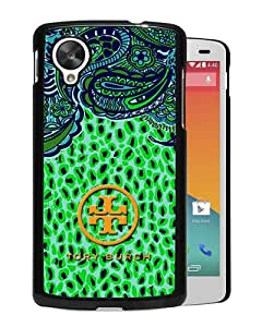 Beautiful And Unique Designed Case For Google Nexus 5 With Tory Burch 40 Black Phone Case