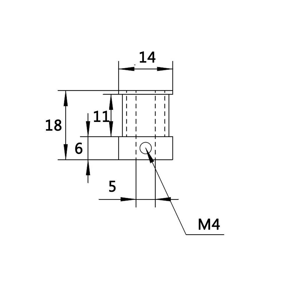 Pack of 5Pcs WINSINN GT2 Pulley 16 Teeth 5mm bore 10mm Width 16T Timing Belt Pulley Wheel Aluminum For 3D Printer WINSINN Technology Ltd