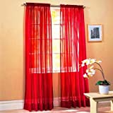 """2 Panels Window Sheer Curtains 54"""" x 84"""" Inches (108"""" Total Width), Voile Panels for Bedroom Living Room, Rod Pocket, Decorat"""
