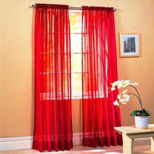 Sapphire Home 2 Panels Window Sheer Curtains 54