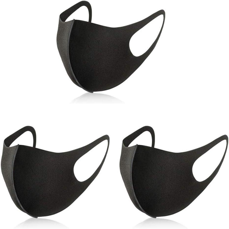 HEZHENG Máscara contra la Boca del Polvo Facial, máscara de los niños de Ciclo al Aire Reutilizable, Poliuretano polímero Esponja máscara Anti del Anti-Polvo Niebla Neblina antipolen (3 Piezas)