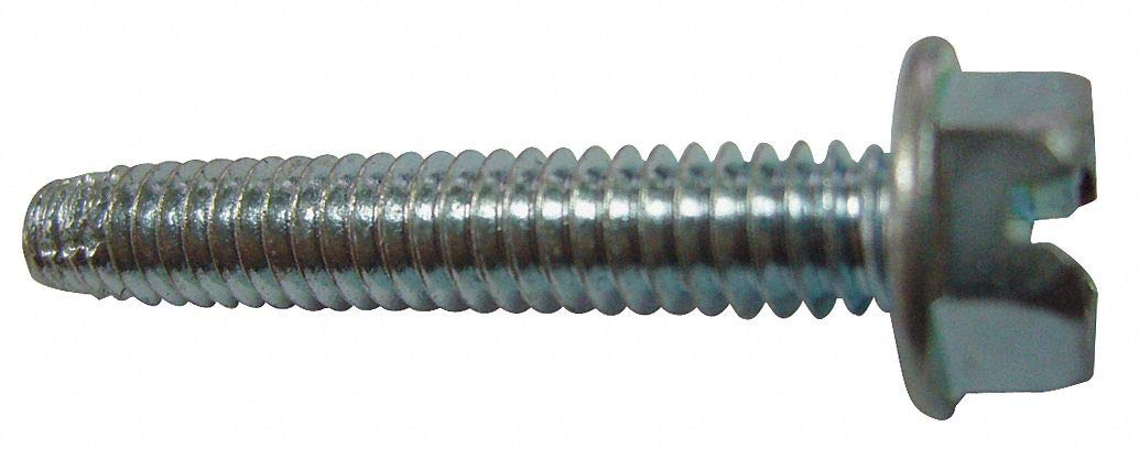 1/2' Case Hardened Steel Thread Cutting Screw with Hex Washer Head Type; PK100 - pack of 5