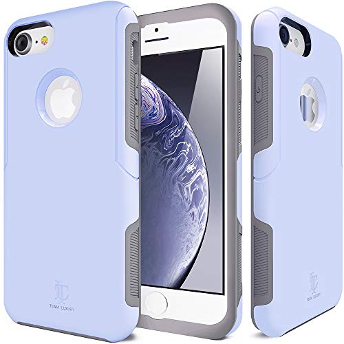 TEAM LUXURY [Defense-x Series Case for iPhone 7 & 8, [Shock Absorbent] Premium Protective Phone Case (4.7 Inch) - Serenity Blue