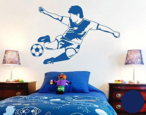 Klebefieber Wandtattoo Fussball Star B x H  120cm x 79cm Farbe  königsblau