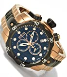 Invicta Men's 5728 Reserve Collection Black Ion-Plated and Rose Gold-Tone Chronograph Watch