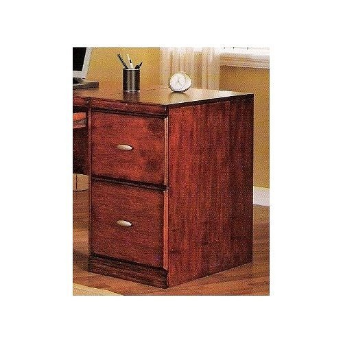 Oak finish wood filing cabinet