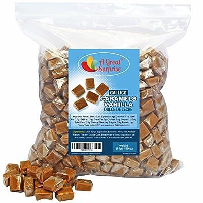 Caramels Vanilla Dulce De Leche by Gallico, 5 LB Bulk Candy