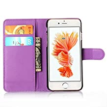 ihpone 6 Case,Hankuke Art Graphic PU Leather Magnet Flip Case with Kickstand and Card Holder for iPhone 6 (4.7-Inch) (purple)