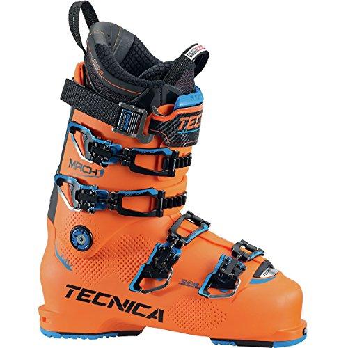 Tecnica Mach1 130 MV Ski Boot Bright Orange/Black, 28.5 (Mountain Tecnica Boots Ski)