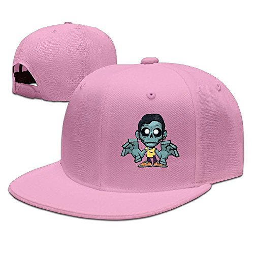 zomboy-unisex-100-cotton-pink-adjustable-snapback-trucker-hats-one-size