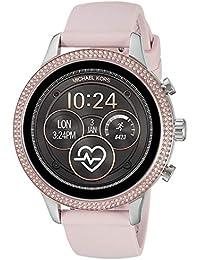 Access Womens Runway Touchscreen Smartwatch Stainless Steel Leather watch, Pink, MKT5055