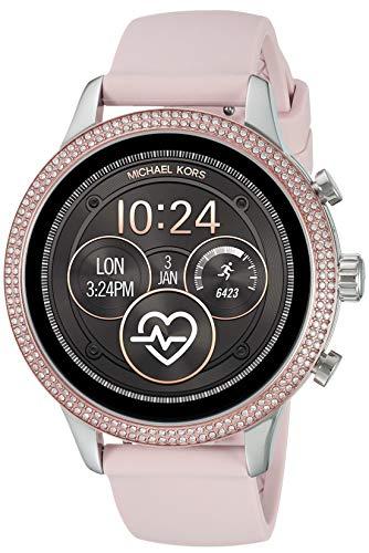 Michael Kors Access Womens Runway Touchscreen Smartwatch Stainless Steel Leather watch, Pink,...