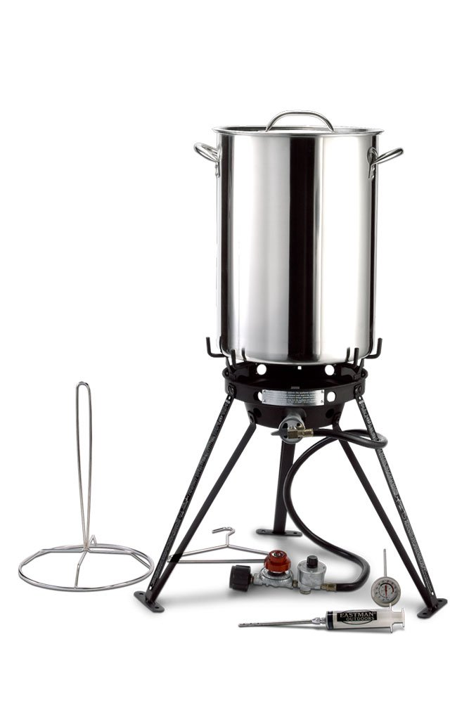 Eastman Outdoors 37069 30 Stainless Steel Professional Outdoor Cooking Set with CSA Shut Off by Carbon Express