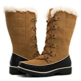 GLOBALWIN Women's 1729 Camel Waterproof Winter Boots 8M US