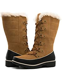 GLOBALWIN Women's Fur Trek Winter Boots