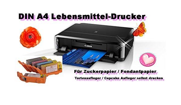 Impresora de tinta comestible, DIN A4 con cartuchos de tinta ...