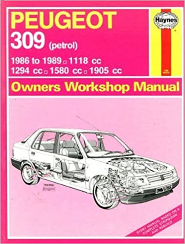 peugeot 309 owners workshop manual: i m  coomber: 9781850105176:  amazon com: books