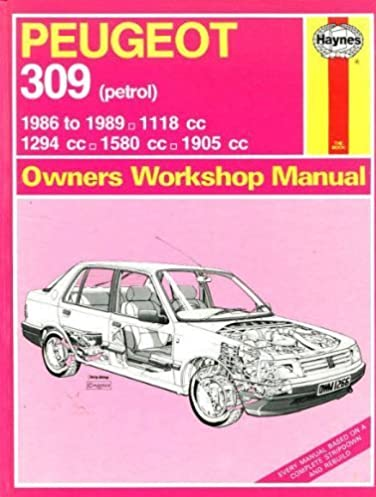 peugeot 309 owners workshop manual i m coomber 9781850105176 VW Lupo GTI