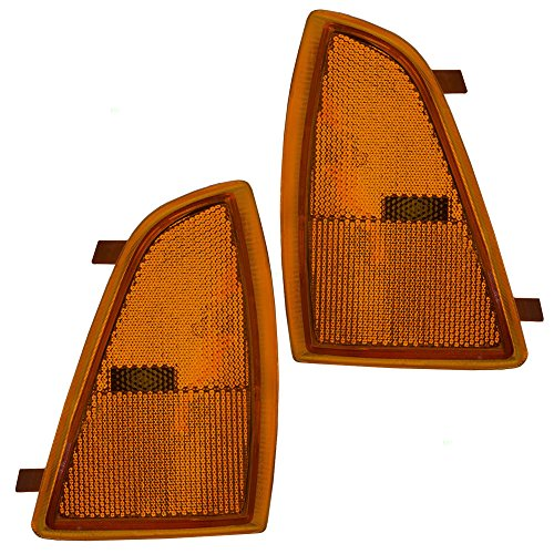 Driver and Passenger Signal Side Marker Lights Replacement for Chevrolet SUV Pickup Truck 5976405 5976406 -