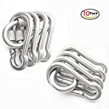 Stainless Steel 316 Spring Snap Hook Carabiner Screw Lock - Clip Keychain Jungle Fast Hang Outdoor Snap Clip, Camping, Hiking, Traveling, Fishing, Tools Carabiner (M6-10Pcs)