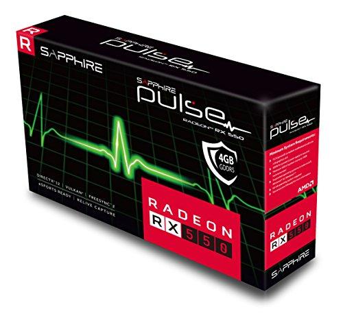 Sapphire Radeon PULSE RX 550 4GB GDDR5 HDMI / DVI-D / DP (UEFI) PCI-E Graphics Card 11268-01-20G by Sapphire Technology (Image #5)