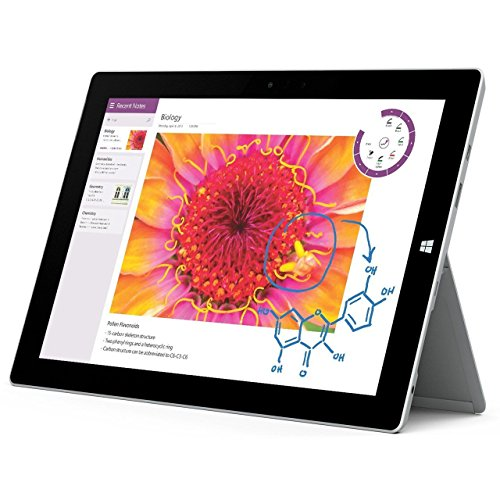 Microsoft Surface 3 GL4-00009 4G LTE 10.8 Inch 128GB Tablet (Renewed)