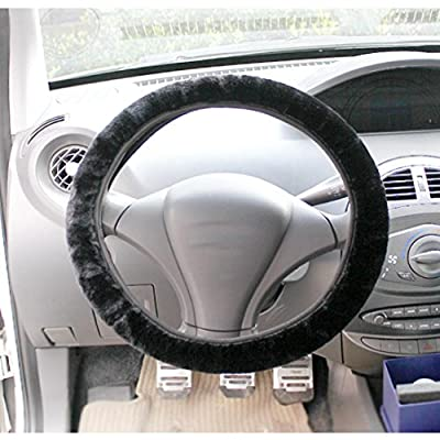 Steering Wheel Cover Soft Fluffy Plush Case Women Auto Beauty