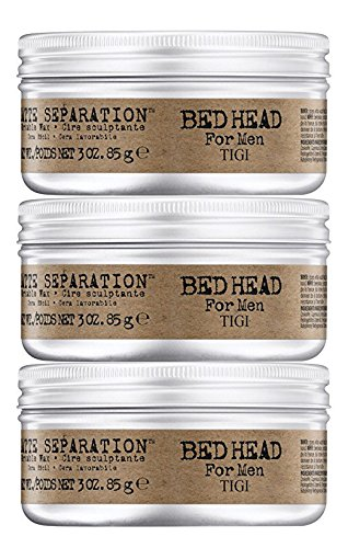 Bed Head Men Matte Separation Workable Wax by TIGI- 3oz 3pk (Head Wax Styling)