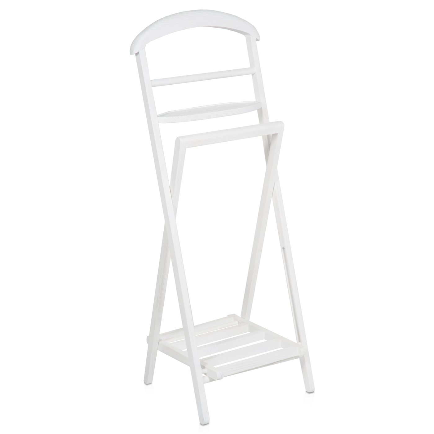 belssia Valet - chêne - blanc lavage - 44 x 112 x 38 cm