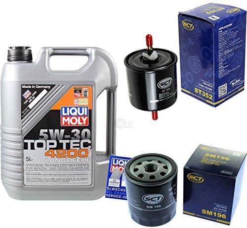 Filter Set Inspektionspaket 5 Liter Liqui Moly Motoröl Top Tec 4200 5W-30 SCT Germany Kraftstofffilter Ölfilter