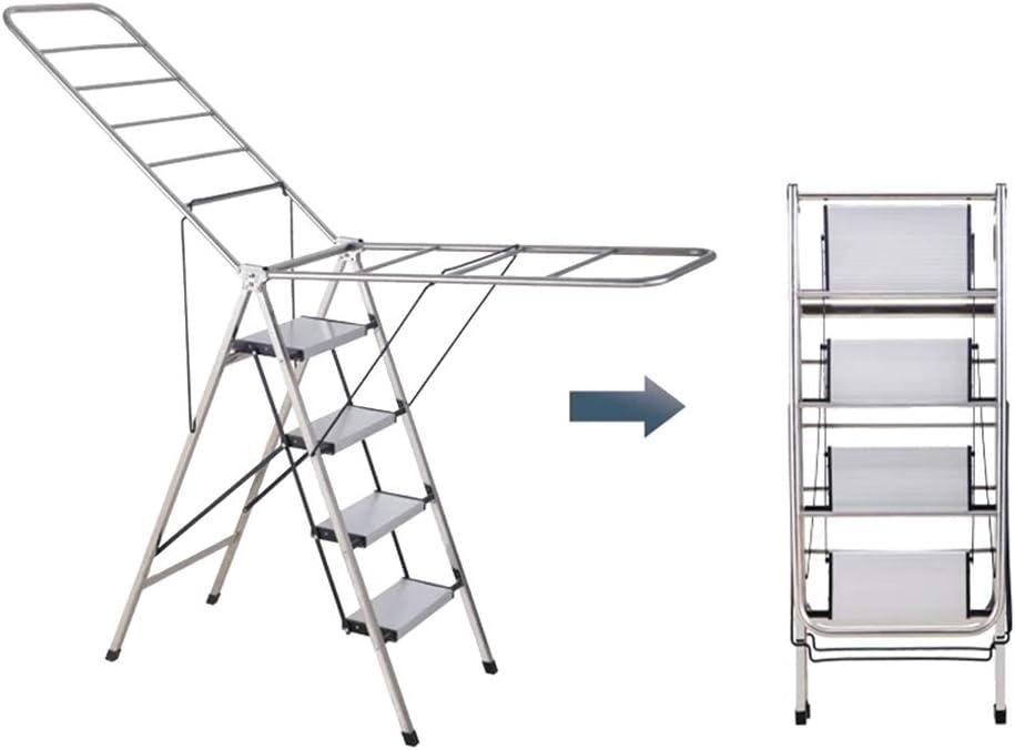 CCMM 2 En 1 Tendedero y Escalera De Secado, Taburete Plegable De Acero Inoxidable Grueso, Adecuado para Interiores, Exteriores, Balcón: Amazon.es: Hogar