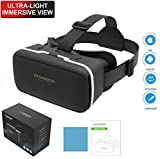 3D VR Glasses VR Headset for Games and Videos - Virtual Reality Headset with Prepositive Radiator for iPhone,Samsung and Other more Smartphones-VR SHINECON (Black)