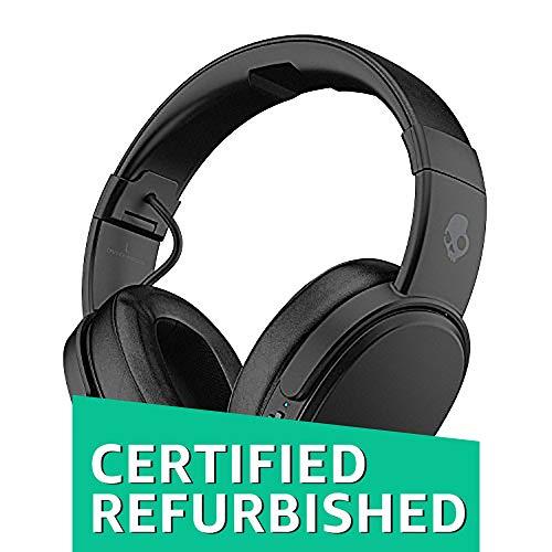 Skullcandy Crusher Bluetooth Wireless Over-Ear Headphones with Microphone – (Renewed) (Black)