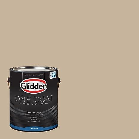 Ordinaire Glidden Interior Paint + Primer: Beige/Best Beige, One Coat, Semi