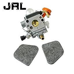 JRL Carburetor & 2 Pcs Air Filter For Stihl FS100(RX) FS-110(R) FS-87(R)